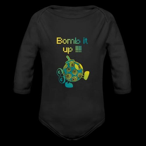 Bomb It Up : Green Power !!! - Body Bébé bio manches longues
