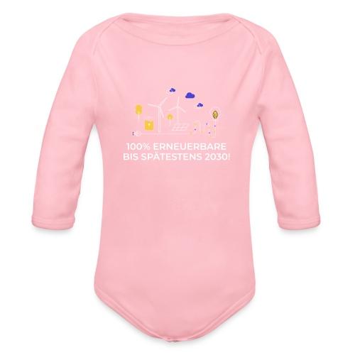 100% Erneuerbare 2030 - Baby Bio-Langarm-Body