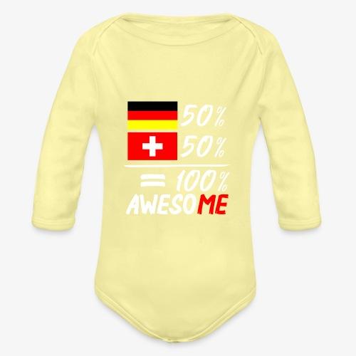 50% Deutsch 50% Schweiz - Baby Bio-Langarm-Body