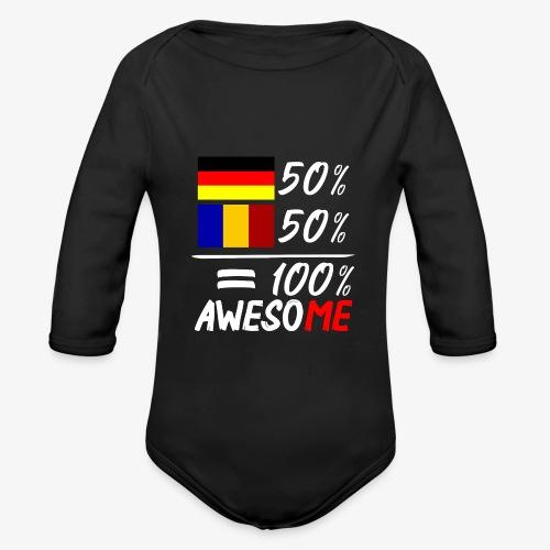 50% Deutsch 50% Rumänisch - Baby Bio-Langarm-Body