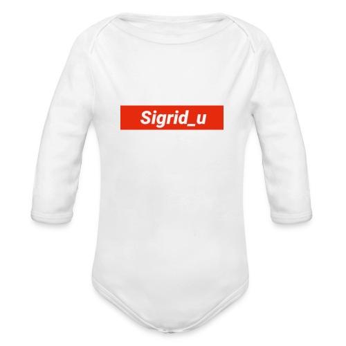Sigrid_uBoxLogo - Økologisk langermet baby-body