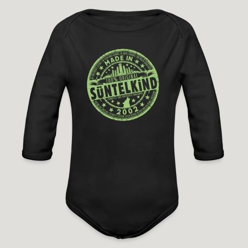 SÜNTELKIND 2002 - Das Süntel Shirt mit Süntelturm - Baby Bio-Langarm-Body