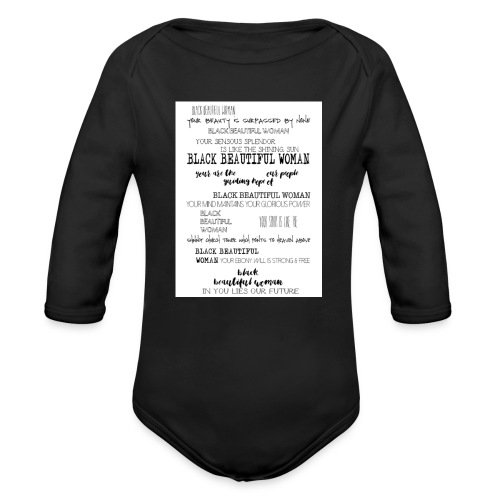 Beautiful Black Woman - Organic Longsleeve Baby Bodysuit