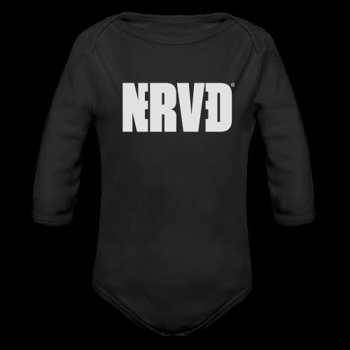 Official Nerved@ White Logotype - Organic Longsleeve Baby Bodysuit