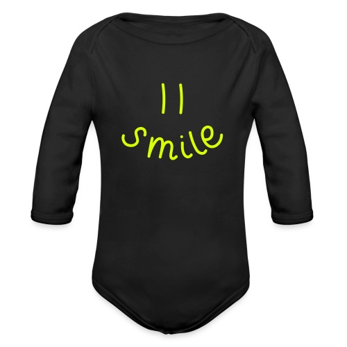 Smile-y - Baby Bio-Langarm-Body