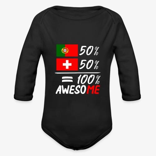 50% Portugal 50% Schweiz - Baby Bio-Langarm-Body