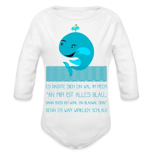 Blauwal - Baby Bio-Langarm-Body