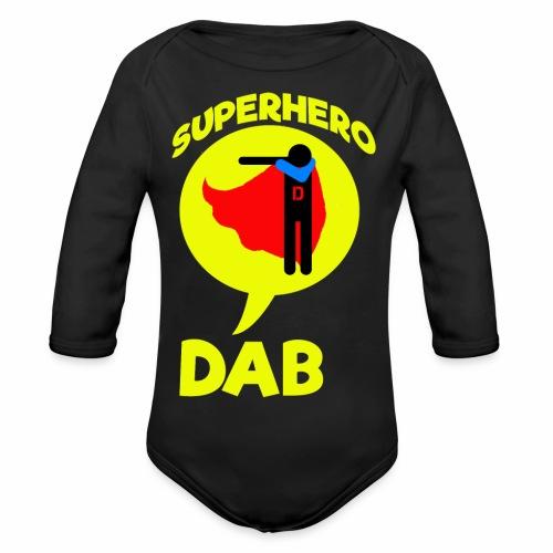 Dab supereroe/ Dab Superhero - Body ecologico per neonato a manica lunga