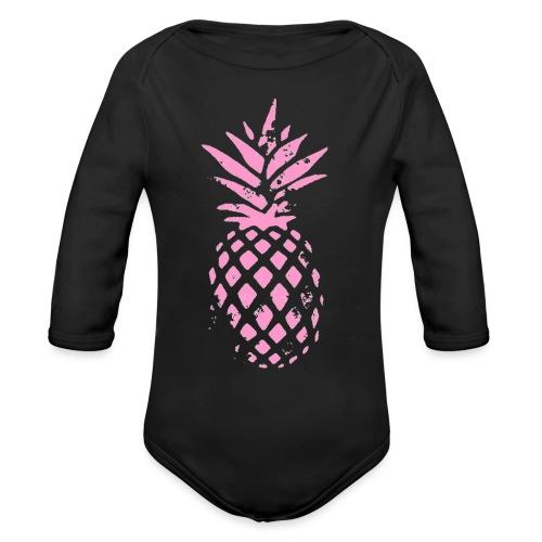 ananas rose - Body Bébé bio manches longues