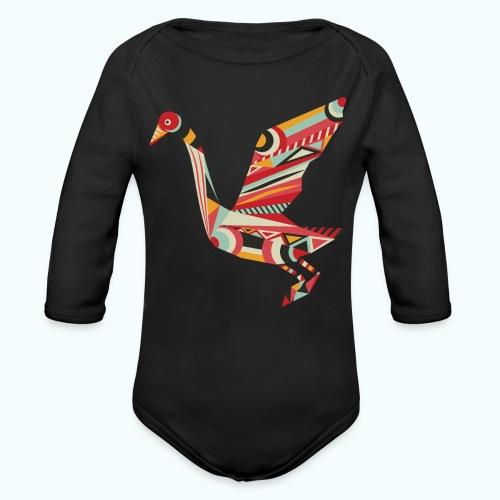 Origami bird Japanese - Organic Longsleeve Baby Bodysuit