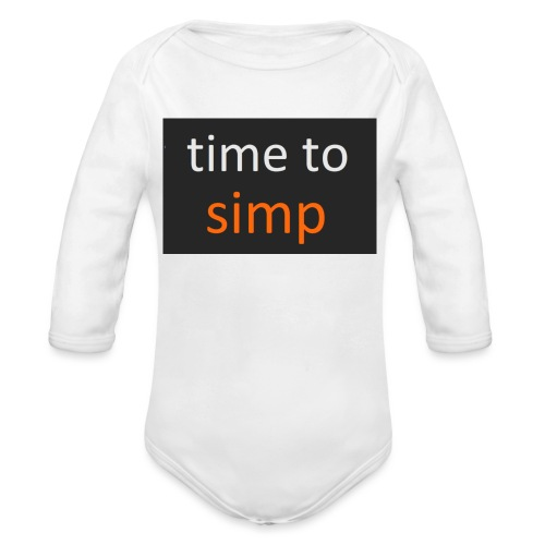 simping time - Baby bio-rompertje met lange mouwen