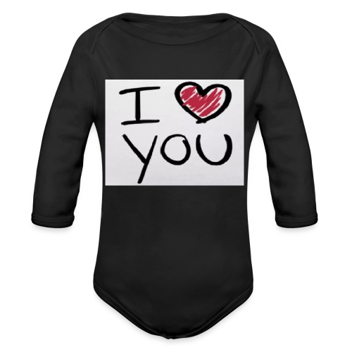 I love you phone case - Organic Longsleeve Baby Bodysuit
