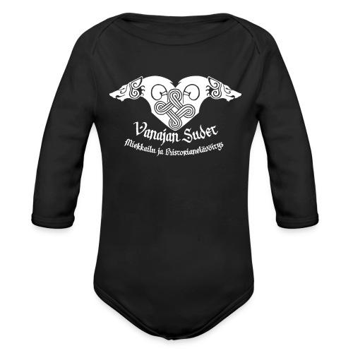 Vanajan Sudet Logo (valkoinen) - Vauvan pitkähihainen luomu-body