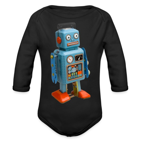 T-Shirt ROBOT - Body ecologico per neonato a manica lunga