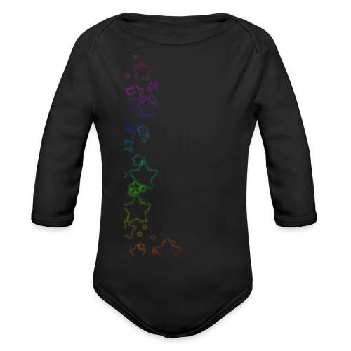 Rainbow Stars - Organic Longsleeve Baby Bodysuit