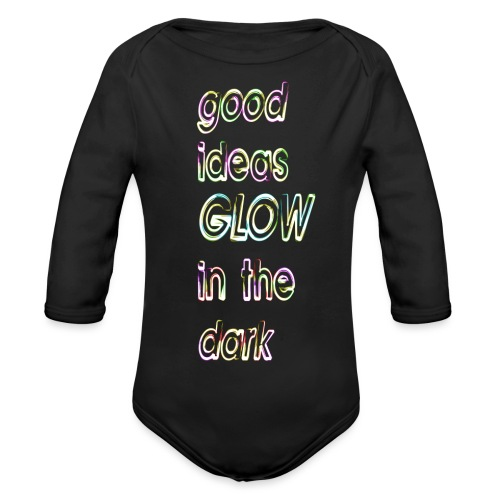 good ideas GLOW in the dark - Body orgánico de manga larga para bebé