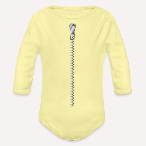 Zipper Funny Surprising T-shirt, Hoodie,Cap Print - Organic Longsleeve Baby Bodysuit