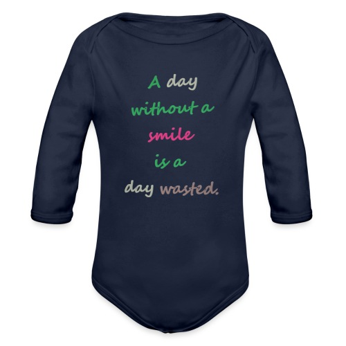 Say in English with effect - Organic Longsleeve Baby Bodysuit