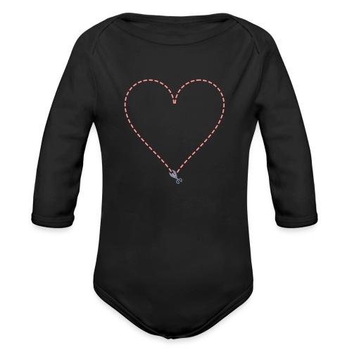 Coeur à découper - Body Bébé bio manches longues