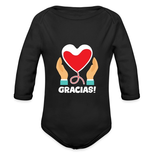 GRACIAS - Body orgánico de manga larga para bebé