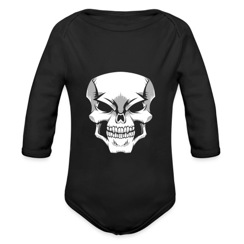Skull - Body orgánico de manga larga para bebé