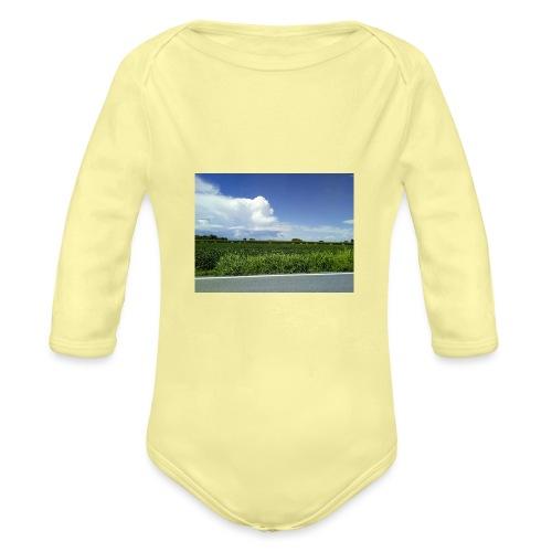 prato verde - Body ecologico per neonato a manica lunga