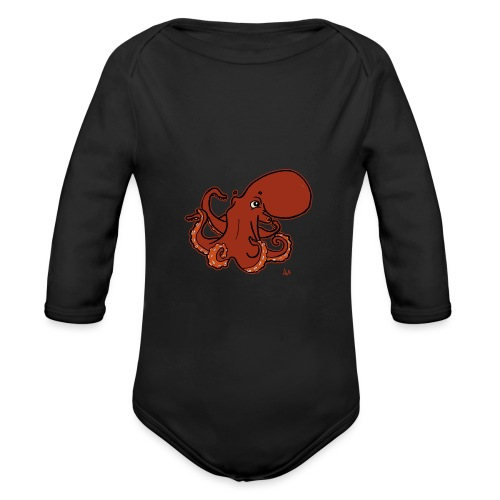 Giant Pacific Octopus (black edition) - Baby Bio-Langarm-Body