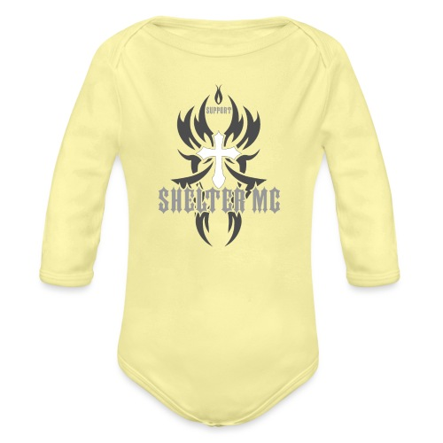 Support Shelter MC - Økologisk langermet baby-body