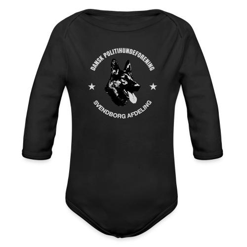 Svendborg PH hvid skrift - Langærmet babybody, økologisk bomuld