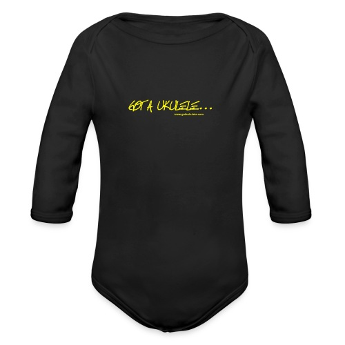 Official Got A Ukulele website t shirt design - Organic Longsleeve Baby Bodysuit