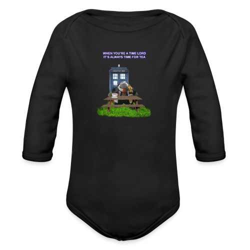 TIME AND SPACE AND TEA - Organic Longsleeve Baby Bodysuit