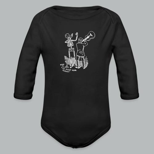 DFBM unbranded white - Organic Longsleeve Baby Bodysuit