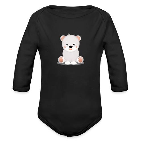 Baby Eisbär Emilia - Baby Bio-Langarm-Body