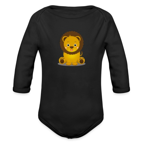 Baby Löwe Leon - Baby Bio-Langarm-Body