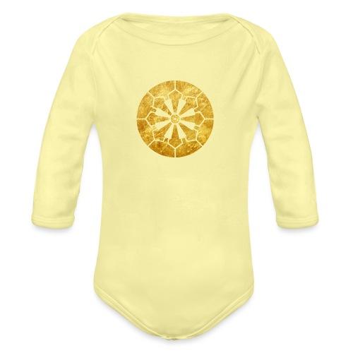 Sanja Matsuri Komagata mon gold - Organic Longsleeve Baby Bodysuit