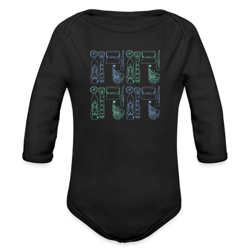 EkoNelijuuri - Vauvan pitkähihainen luomu-body