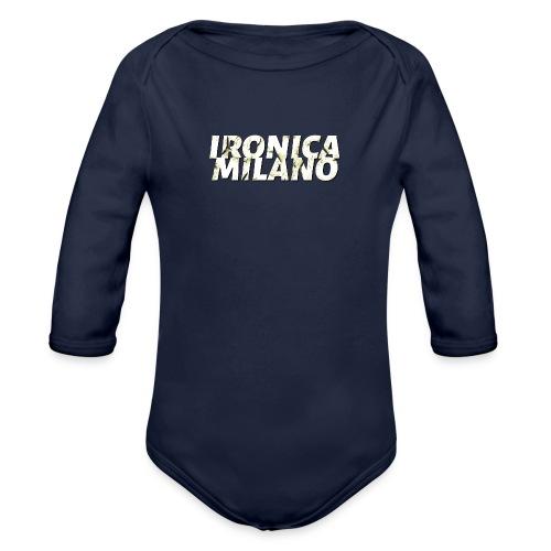 Ironica Milano - Body ecologico per neonato a manica lunga