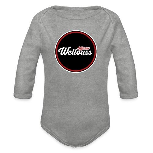 Wellouss Fan T-shirt | Rood - Baby bio-rompertje met lange mouwen