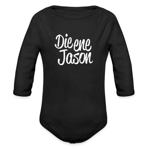 DieEneJason Hoodie - Baby bio-rompertje met lange mouwen