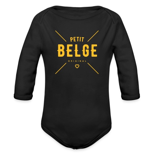 petit belge original - Body Bébé bio manches longues