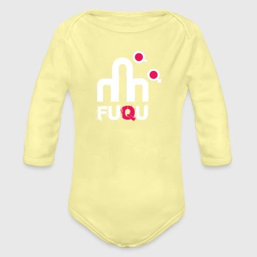 T-shirt FUQU logo colore bianco - Body ecologico per neonato a manica lunga
