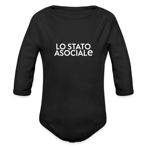 T-Shirt Logo Nera - Body ecologico per neonato a manica lunga