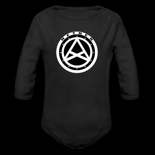 Nether Crew Black\White SnapBack - Body ecologico per neonato a manica lunga