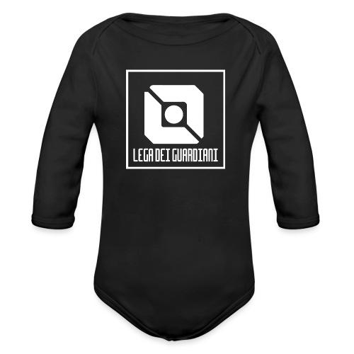 Lega Dei Guardiani - Logo Bianco - Body ecologico per neonato a manica lunga