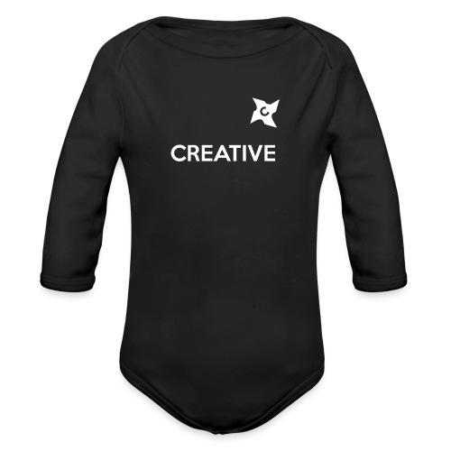 Creative long urban shirt - Langærmet babybody, økologisk bomuld
