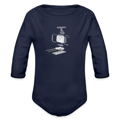 VivoDigitale t-shirt - Blackmagic - Body ecologico per neonato a manica lunga