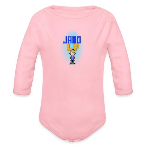 Pixel Jamo - Langærmet babybody, økologisk bomuld