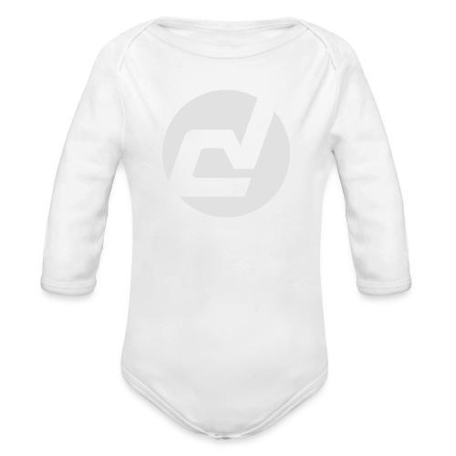 logo blanc - Body Bébé bio manches longues