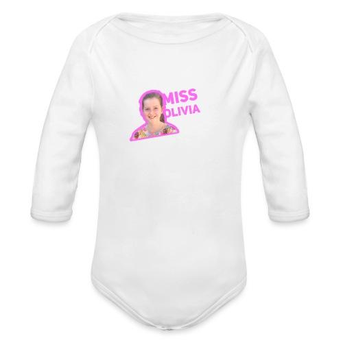 MissOlivia - Baby bio-rompertje met lange mouwen