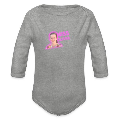 MissOlivia kindermerch - Baby bio-rompertje met lange mouwen